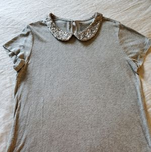 Gap L tee with sequined collar
